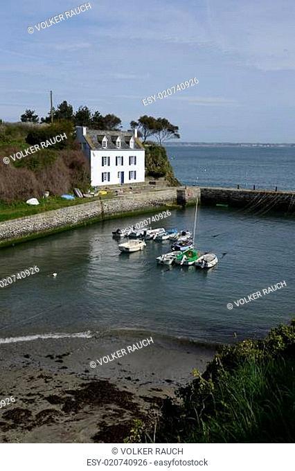 Port Lay auf der Ile de Groix, Bretagne