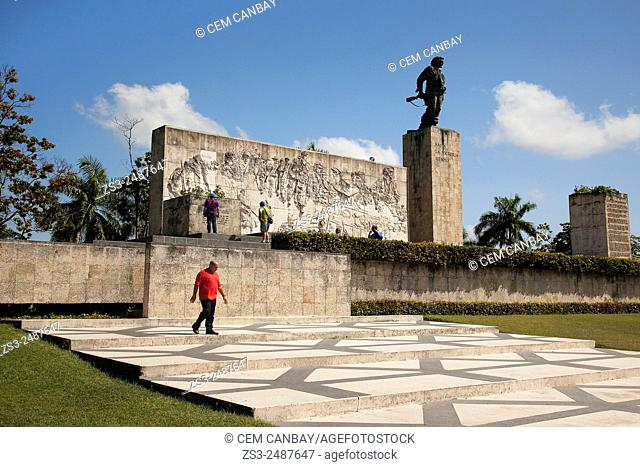 Tourists at Che Guevara Monument and Mausoleum, Santa Clara, Cuba, Antilles, Central America