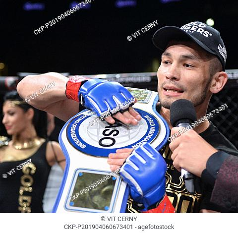 Uzbek MMA fighter Makhmud Muradov won over Spanish fighter Tato Primera during the Night of Warriors gala evening on April 6, 2019, in Liberec, Czech Republic