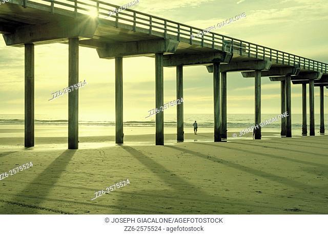 Scripps Pier, beach, coastal. La Jolla, California, United States