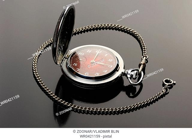 Pocket watch with open cover