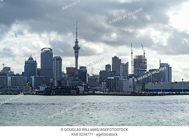 Auckland skyline, Hauraki Gulf, New Zealand