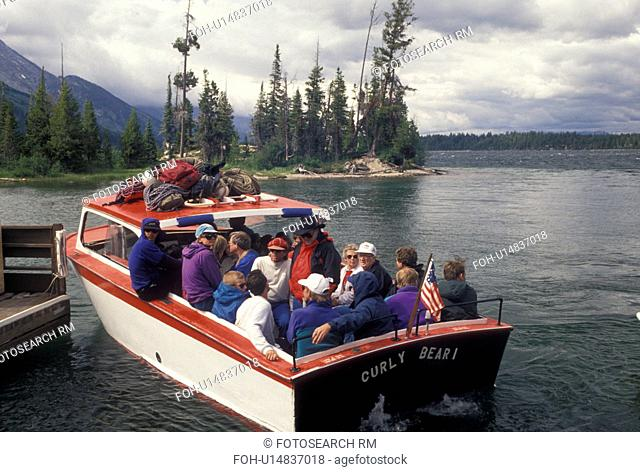 Jenny Lake, Grand Teton National Park, WY, Jackson Hole, Wyoming, Boat excursion on Jenny Lake in Grand Teton Nat'l Park in Wyoming