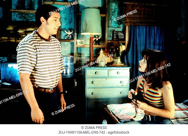 Nov 06, 1998; Orlando, FL, USA; ADAM SANDLER and FAIRUZA BALK star as Bobby Boucher and Vicki Vallencourt in the comedy 'The Waterboy' directed by Frank Coraci