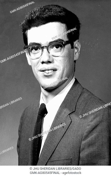 Chest up portrait of Morton R. Dworken, Jr. US military official and political counselor, 1968