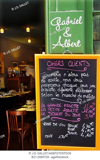 Restaurant 'Gabriel & Albert' at Saint Michel area, Bordeaux, Gironde, Aquitaine, France