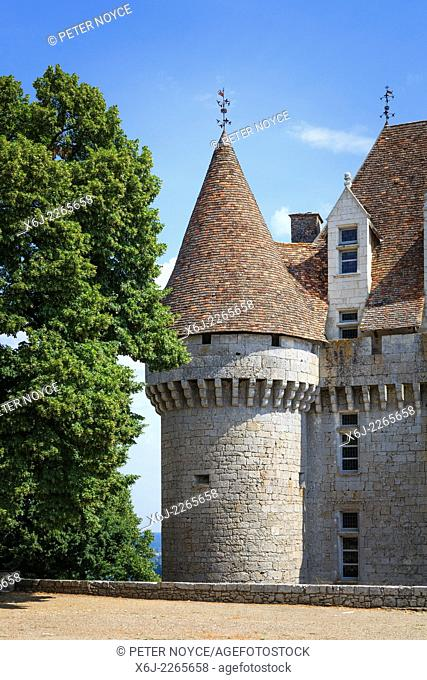 one of the towers of the Chateau de Monbazillac France