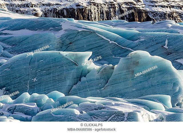 Svínafellsjökull glacier,National Park of Vatnajökull,southern Iceland,Europe