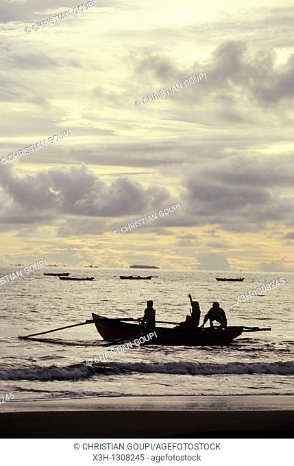 rowing boat, Flores island, Lesser Sunda Islands, Republic of Indonesia, Southeast Asia and Oceania