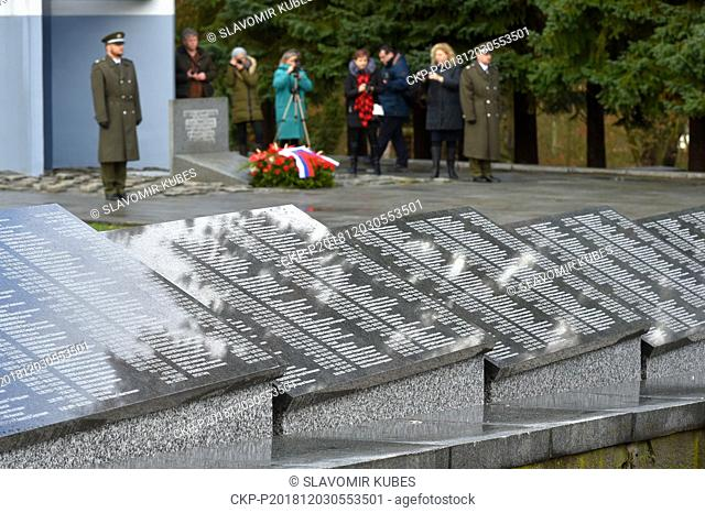 A revealing of memorial plaques with names of Soviet soldiers in a pious place at the mass grave of Soviet soldiers was held in Sokolov, Czech Republic