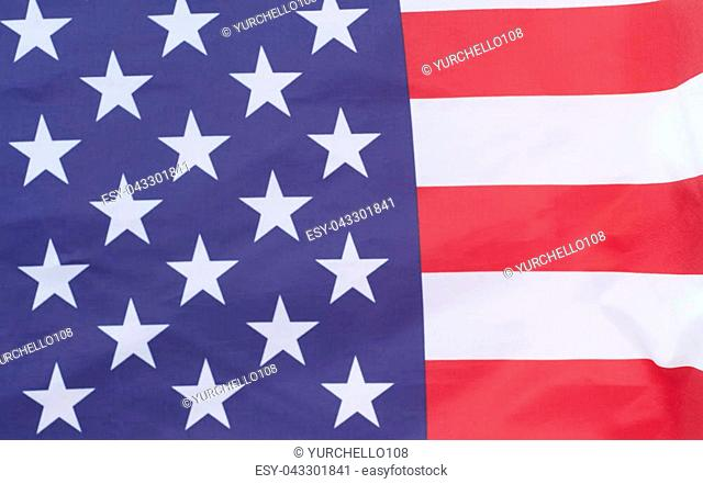 Closeup of United States of America flag.American flag background