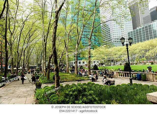 Bryant Park, garden and park, New York City