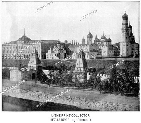 The Kremlin, Moscow, late 19th century. Photograph from Portfolio of Photographs, of Famous Scenes, Cities and Paintings by John L Stoddard