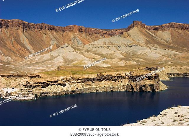Band-E- Amir (Dam of the King) crater Lakes, Band-I-Zulfiqar the main lake. Band-E-Amir is Afghanistan's first National Park set up in 1973 to protect the...