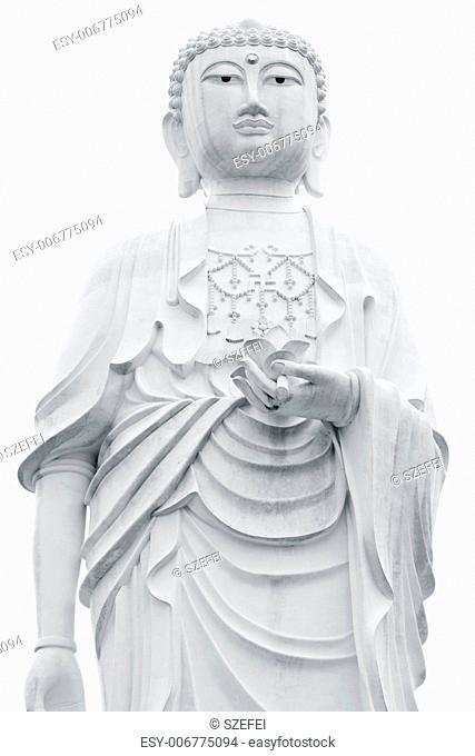 Giant Buddha statue isolated on white background