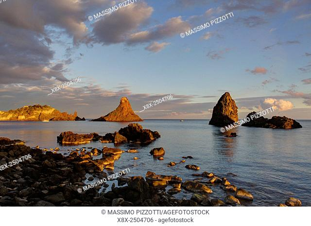 Cyclops stacks in Aci Trezza, Sicily, Italy