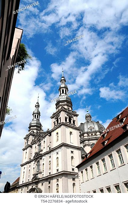 Collegiate Haug, Church of St. John, Wuerzburg, Bavaria, Germany, Europe