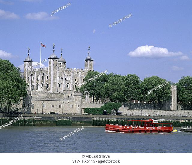 Boat, England, United Kingdom, Great Britain, Heritage, Holiday, Landmark, London, Thames river, Tour, Tourism, Tower of london