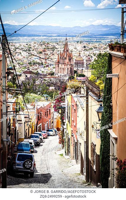 San Miguel de Allende streest, Mexico, Guanajuato