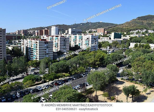 Urban landscape, Parc de la Vall d'Hebron, Barcelona, Spain