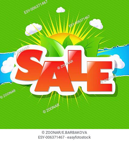 Green Torn Paper Borders And Sale Poster