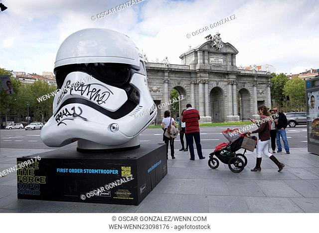 Large scale replica helmets of characters such as Darth Vader and a Stormtrooper from the original Star Wars trilogy, along with Captain Phasma and new...