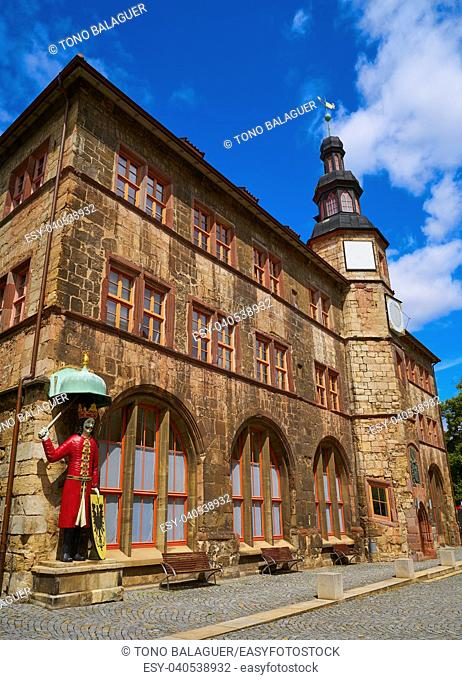 Stadt Nordhausen Rathaus city hall in Thuringia Germany