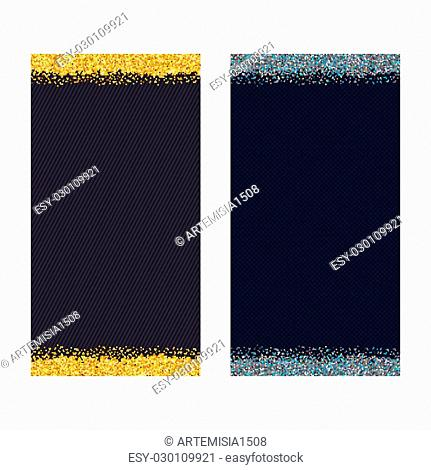 Gold and silver background. The luxurious texture for business. Vector illustration