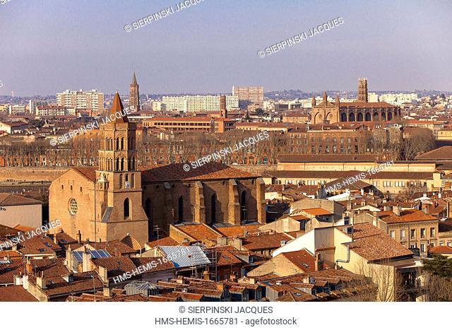 France, Haute Garonne, Toulouse, Saint Cyprien district, Saint Nicolas church, bell tower