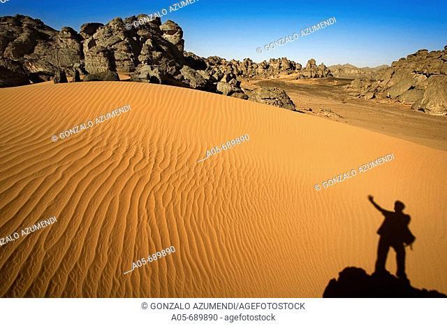 Akakus mountain. Fezzan region. Sahara desert. Libia
