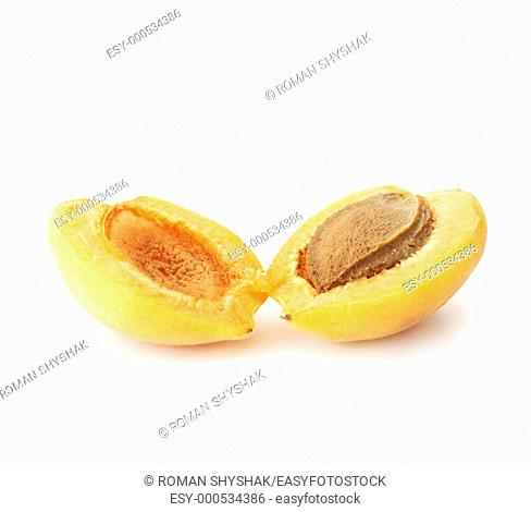 Halved Apricot  Professionally retouched high quality image