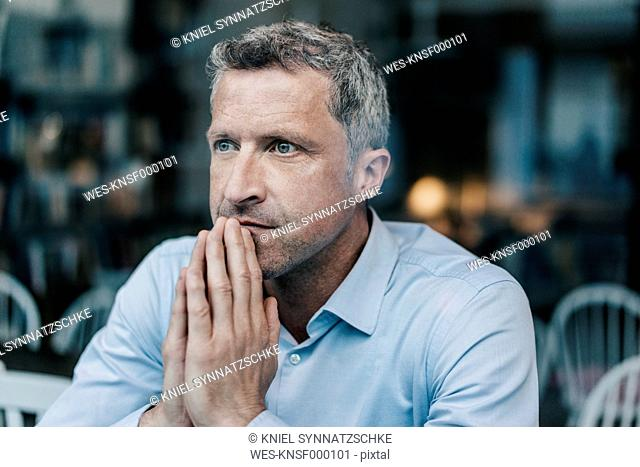 Businessman looking serious