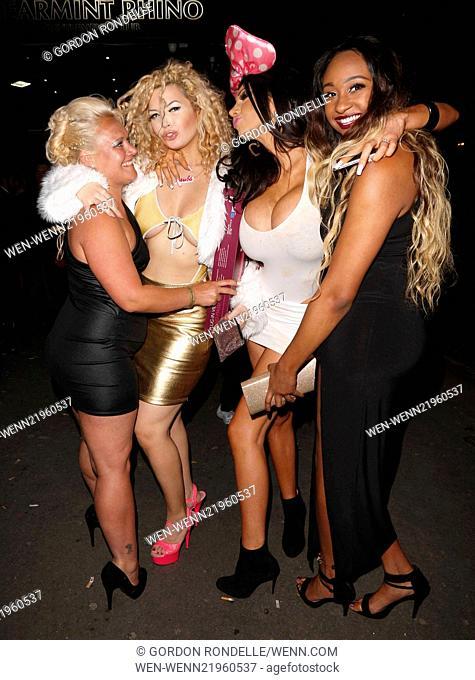 'The Paul Raymond Awards' held at Spearmint Rhino Featuring: Aruba Jasmine,Chloe Jasmine Where: London, United Kingdom When: 24 Nov 2014 Credit: Gordon...