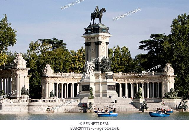 Monument to Alfonso XII at Retiro Park