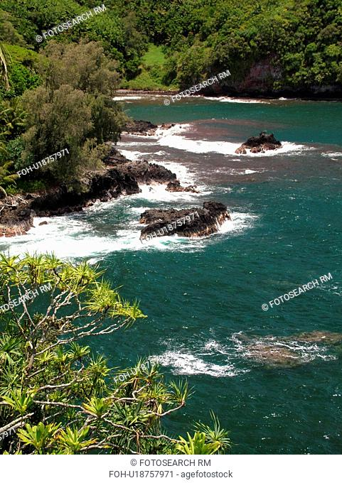 Big Island, Island of Hawaii, HI, Hawaii, Hamakua Coast, Hilo, scenic coast