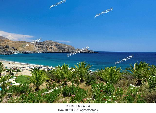 Crete, Greece, Europe, in Greek, island, isle, islands, isles, Mediterranean Sea, Europe, European, outdoors, day, Damnoni, Damnoni Beach, Plakias, coast