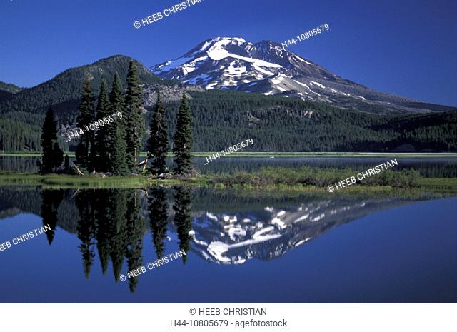 Deschutes, National Forest, Oregon, South Sister and, Sparks Lake, USA, America, United States