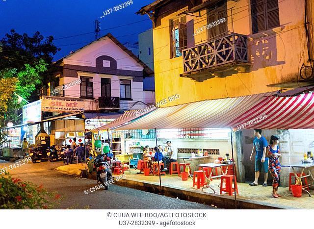 Street vendors. Ho Chi Min City (Saigon). Vietnam
