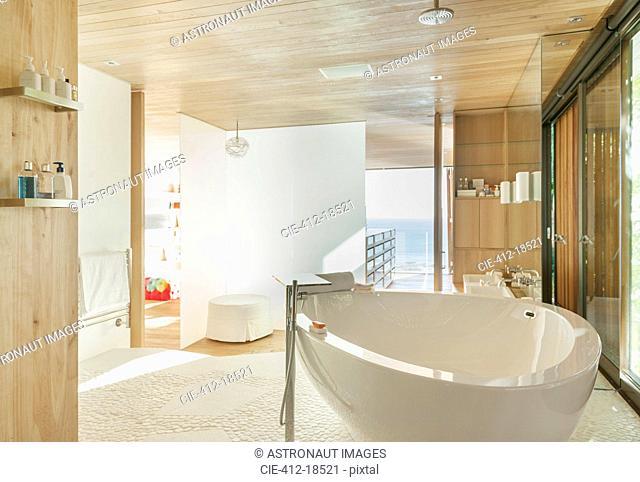 Sunny modern bathroom