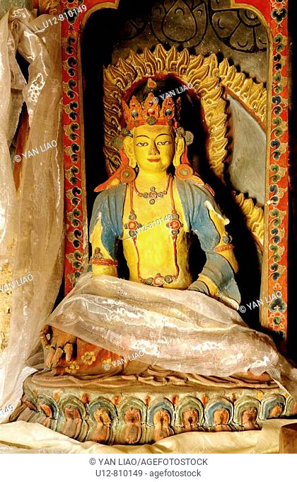 Most of the statues in buddhist temples show gods or animals that protect the buddhist religion and or the people living in that area