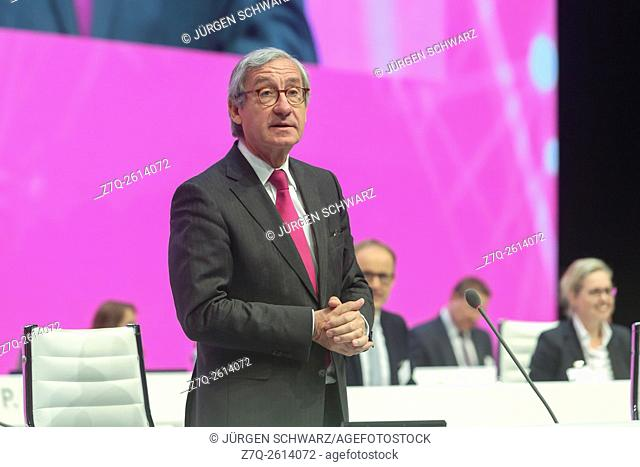 Deutsche Telekom supervisory board chairman Ulrich Lehner, AGM, Cologne, 21. 05. 2015