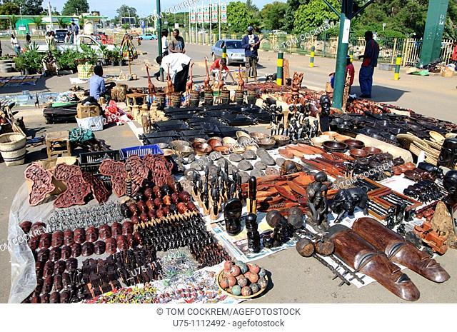 Stall at arcades Sunday craft, Lusaka, Zambia