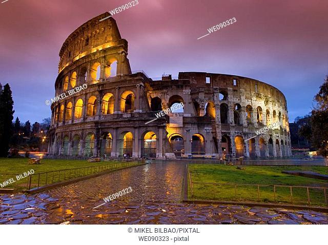 The Colosseum or Roman Coliseum. Rome, Italy