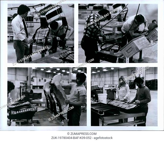 Apr. 04, 1978 - Seat Production: Seats for Volkswagen Rabbits are produced at VW Westmoreland using seat frames, foam padding and upholstery material furnished...