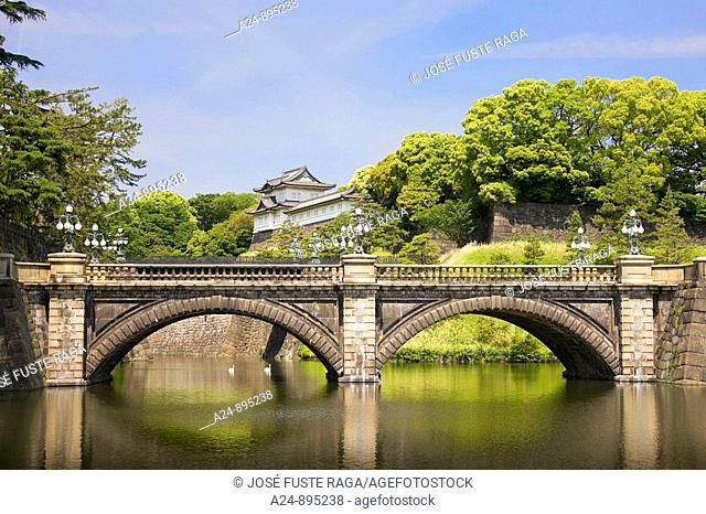 Nijubashi Bridge at Tokyo Imperial Palace, Tokyo, Japan (Spring 2009)