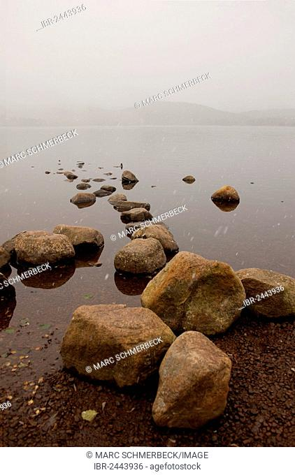 Loch Morlich, Cairngorms mountain range, Scotland, United Kingdom, Europe