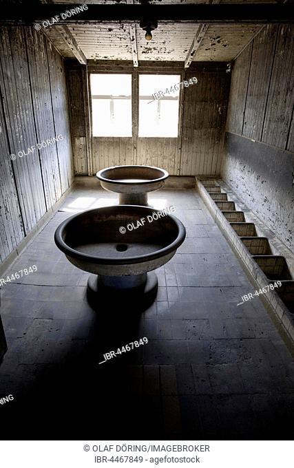 Washroom, Memorial Concentration Camp Sachsenhausen, Oranienburg, Brandenburg, Germany