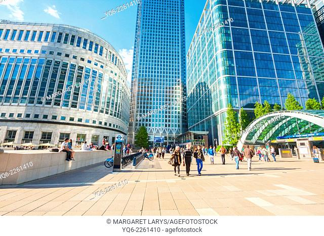 Modern architecture, Canary Warf, Docklands, London, England