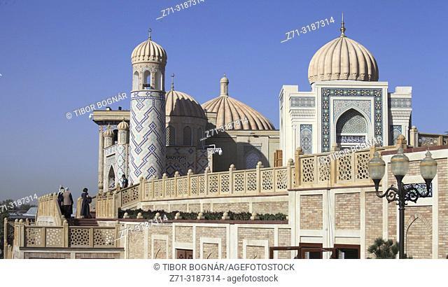 Uzbekistan, Samarkand, Hazrat Khizr Mosque, Islam Karimov