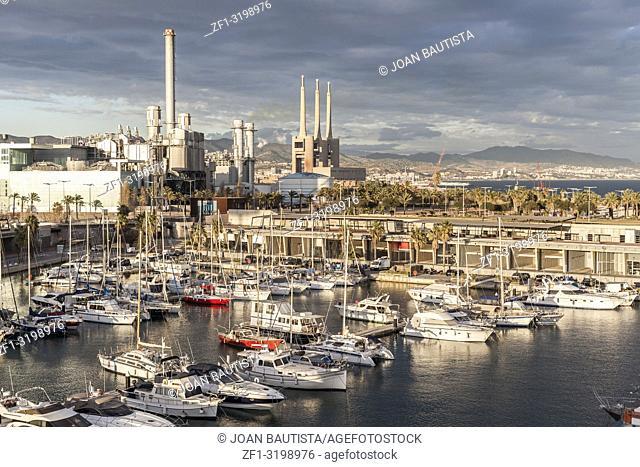 Marina, Port forum, in Sant Adria de Besos,border city with Barcelona